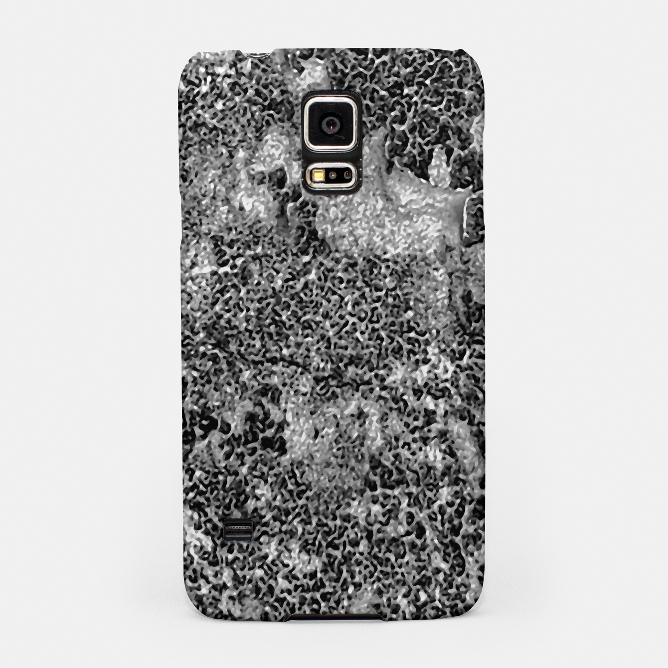 Image of Grey and White Grunge Camouflage Print Samsung Case - Live Heroes
