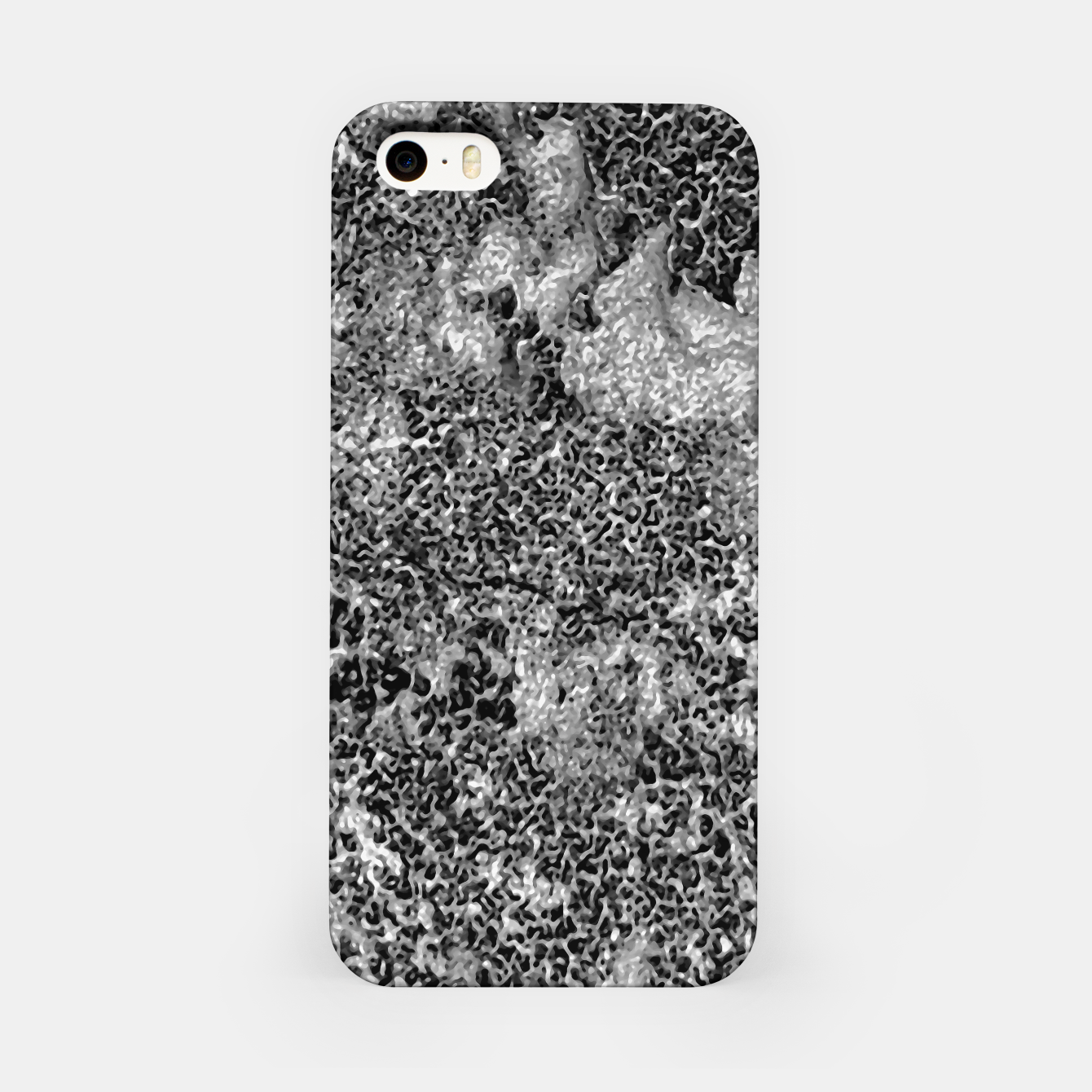 Image of Grey and White Grunge Camouflage Print iPhone Case - Live Heroes