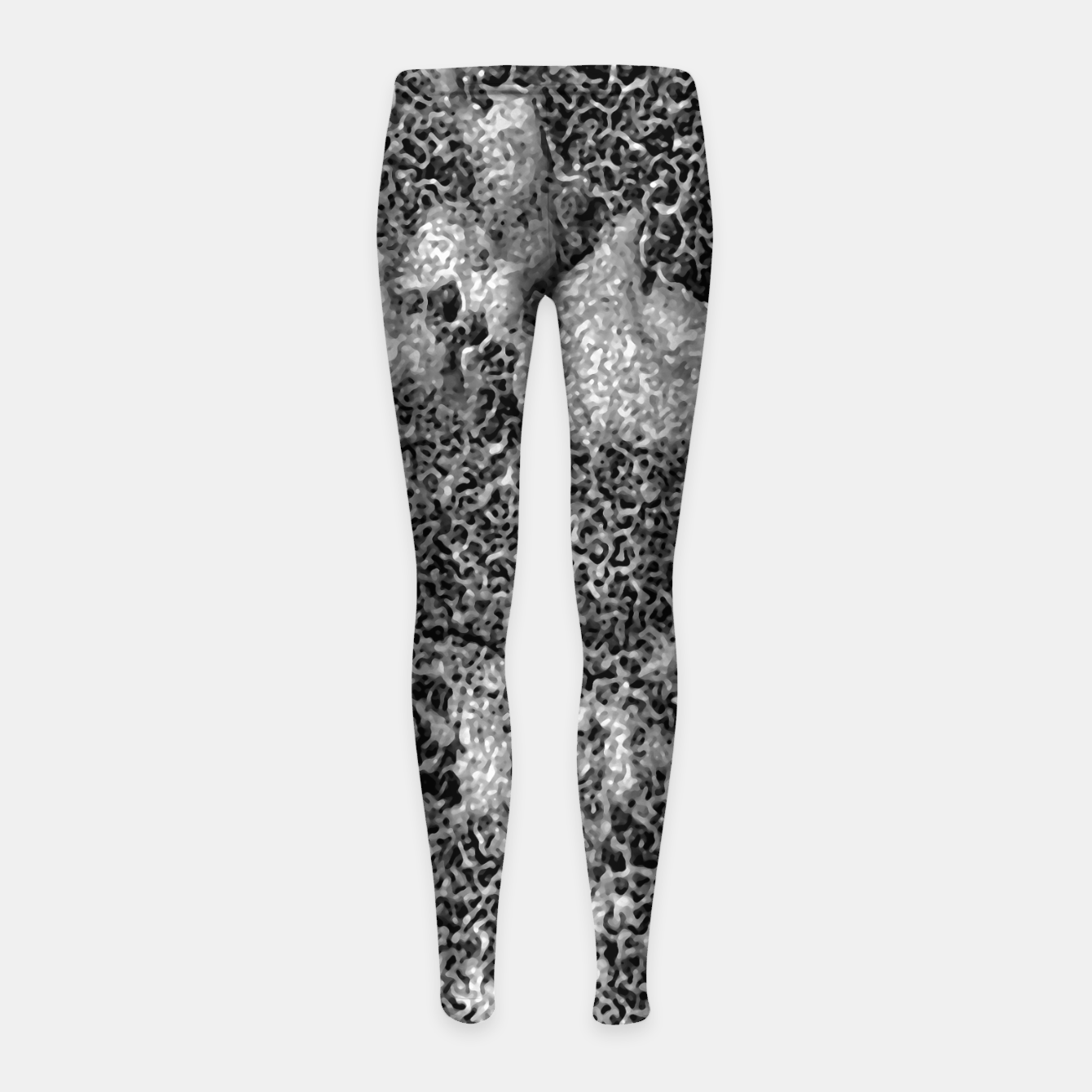 Image of Grey and White Grunge Camouflage Print Girl's leggings - Live Heroes