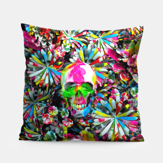 Thumbnail image of Colored Skull Pillow, Live Heroes