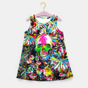 Thumbnail image of Colored Skull Girl's summer dress, Live Heroes