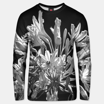 Thumbnail image of Black and White Lilies Botany Motif Print Unisex sweater, Live Heroes