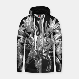 Thumbnail image of Black and White Lilies Botany Motif Print Hoodie, Live Heroes
