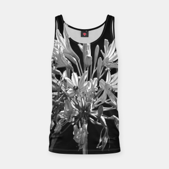 Thumbnail image of Black and White Lilies Botany Motif Print Tank Top, Live Heroes