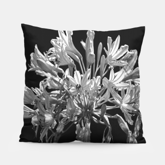 Thumbnail image of Black and White Lilies Botany Motif Print Pillow, Live Heroes