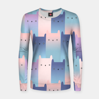 Thumbnail image of Shadow Cats Women sweater, Live Heroes