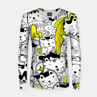 Thumbnail image of Monster Cats Women sweater, Live Heroes