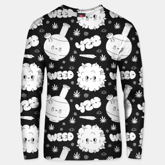 Thumbnail image of Funny Weed Unisex sweater, Live Heroes