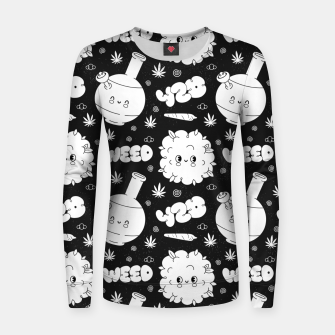 Thumbnail image of Funny Weed Women sweater, Live Heroes