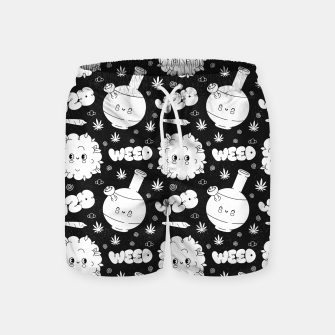 Thumbnail image of Funny Weed Swim Shorts, Live Heroes