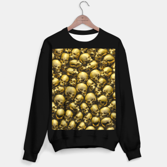 Thumbnail image of Totally Gothic Abstract Skulls Horror Pattern Gold Sweater regular, Live Heroes