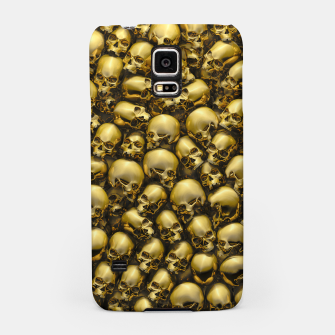 Thumbnail image of Totally Gothic Abstract Skulls Horror Pattern Gold Samsung Case, Live Heroes