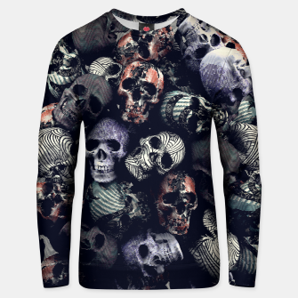 Thumbnail image of Engraved Skulls Color Unisex sweater, Live Heroes