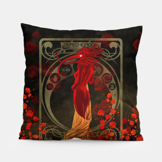 Thumbnail image of My Walking In My Shoes Girl 5 Art Nouveau Pillow, Live Heroes