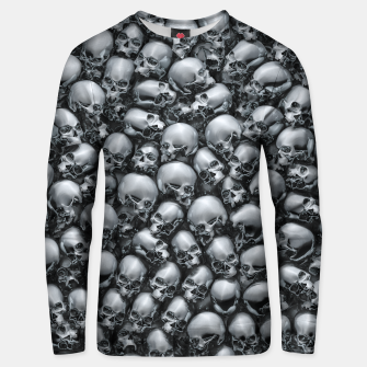 Thumbnail image of Totally Gothic Abstract Skulls Horror Pattern Chrome Unisex sweater, Live Heroes