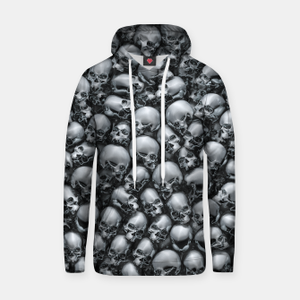 Thumbnail image of Totally Gothic Abstract Skulls Horror Pattern Chrome Hoodie, Live Heroes