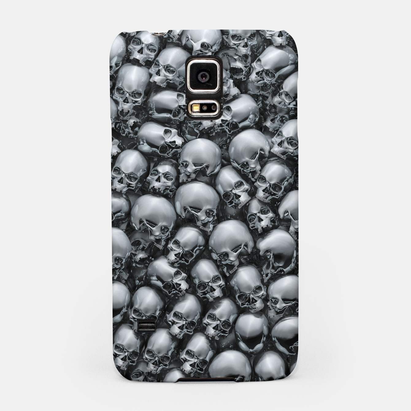 Image of Totally Gothic Abstract Skulls Horror Pattern Chrome Samsung Case - Live Heroes
