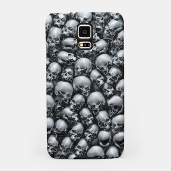 Thumbnail image of Totally Gothic Abstract Skulls Horror Pattern Chrome Samsung Case, Live Heroes
