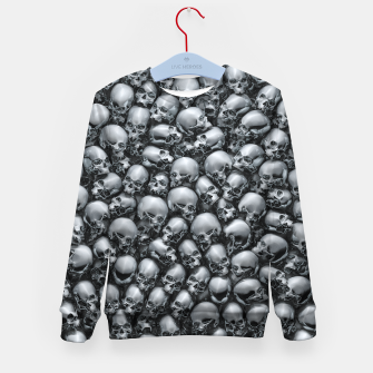 Thumbnail image of Totally Gothic Abstract Skulls Horror Pattern Chrome Kid's sweater, Live Heroes