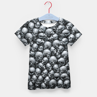 Thumbnail image of Totally Gothic Abstract Skulls Horror Pattern Chrome Kid's t-shirt, Live Heroes