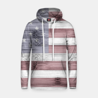 Thumbnail image of Rustic Red White Blue Wood USA flag Hoodie, Live Heroes