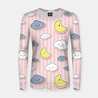 Thumbnail image of Moon & Cloud Women sweater, Live Heroes