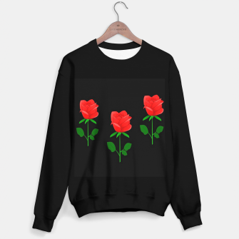 Thumbnail image of Red roses on black Sweater regular, Live Heroes