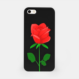 Thumbnail image of Red roses on black iPhone Case, Live Heroes
