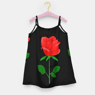 Thumbnail image of Red roses on black Girl's dress, Live Heroes