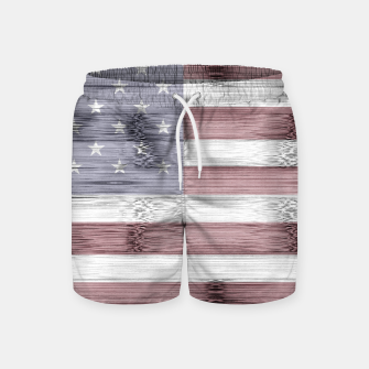 Thumbnail image of Rustic Red White Blue Wood USA flag Swim Shorts, Live Heroes
