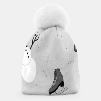 Thumbnail image of Gray winter Beanie, Live Heroes