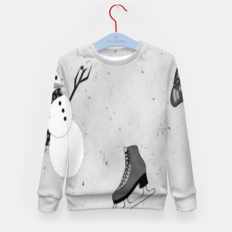 Thumbnail image of Gray winter Kid's sweater, Live Heroes