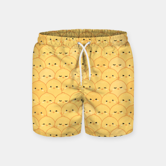 Thumbnail image of Yellow Chicken Swim Shorts, Live Heroes
