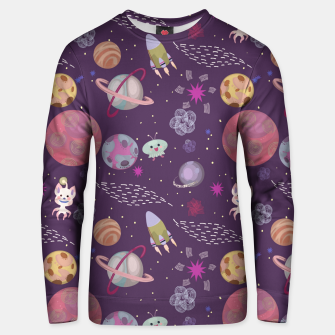 Thumbnail image of Purple Galaxy Unisex sweater, Live Heroes