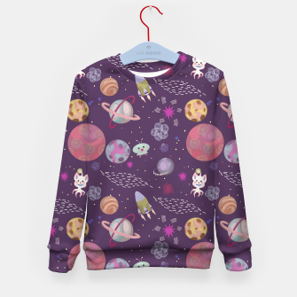 Thumbnail image of Purple Galaxy Kid's sweater, Live Heroes