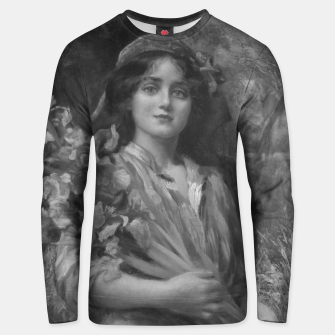 Thumbnail image of Iris by Norman Prescott-Davies In Grey Scale Unisex sweater, Live Heroes
