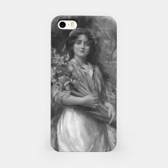 Thumbnail image of Iris by Norman Prescott-Davies In Grey Scale iPhone Case, Live Heroes