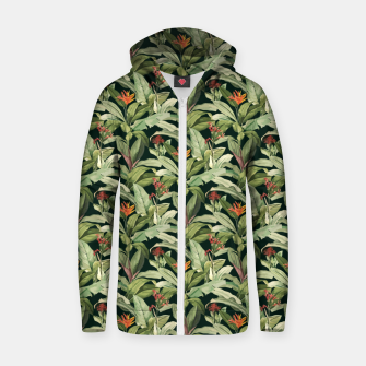 Thumbnail image of Jungle Boho Tropical Style Pattern Design Zip up hoodie, Live Heroes