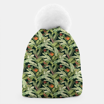 Thumbnail image of Jungle Boho Tropical Style Pattern Design Beanie, Live Heroes