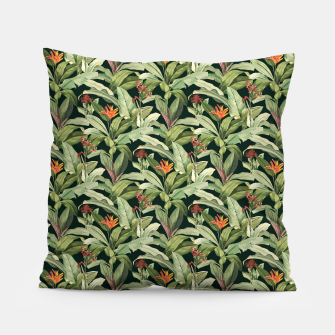 Thumbnail image of Jungle Boho Tropical Style Pattern Design Pillow, Live Heroes