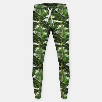 Thumbnail image of Jungle Style Palm Trees Pattern Artwork  Sweatpants, Live Heroes
