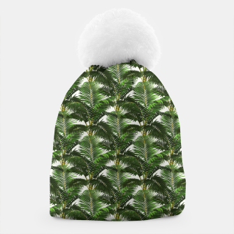 Thumbnail image of Jungle Style Palm Trees Pattern Artwork  Beanie, Live Heroes