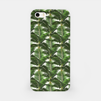 Thumbnail image of Jungle Style Palm Trees Pattern Artwork  iPhone Case, Live Heroes