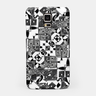 Thumbnail image of Black and White Geometric Print Samsung Case, Live Heroes