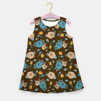 Thumbnail image of Floral - Colorful Roses Girl's summer dress, Live Heroes