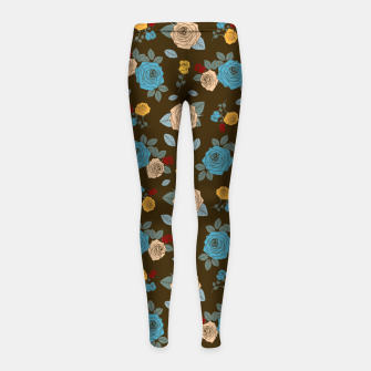 Thumbnail image of Floral - Colorful Roses Girl's leggings, Live Heroes