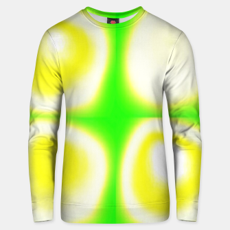 Thumbnail image of Glow circles on green Unisex sweater, Live Heroes