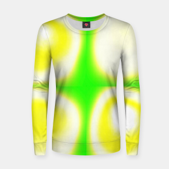 Thumbnail image of Glow circles on green Women sweater, Live Heroes