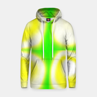 Thumbnail image of Glow circles on green Hoodie, Live Heroes