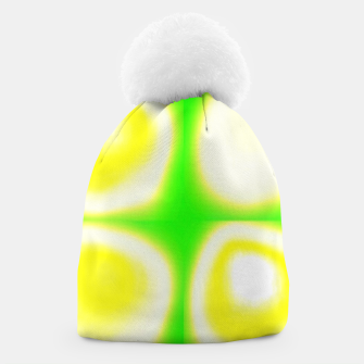 Thumbnail image of Glow circles on green Beanie, Live Heroes
